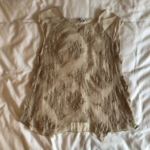Tempo Paris Tops - Sheer Lace Top